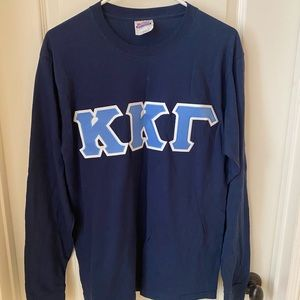 KKG Kappa Kappa Gamma Navy Long Sleeve